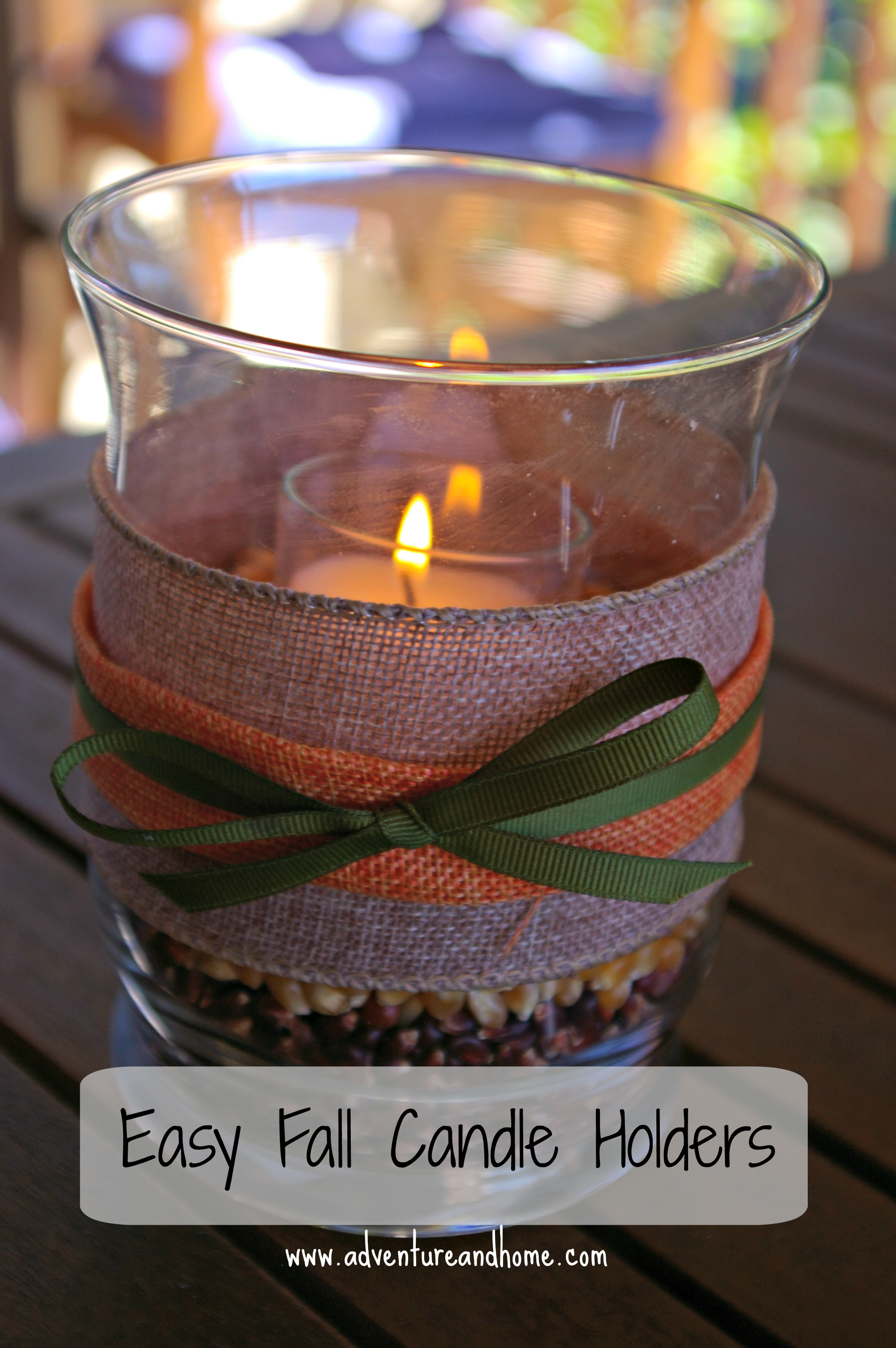 Get Your DIY On: Easy Fall Candle Holders