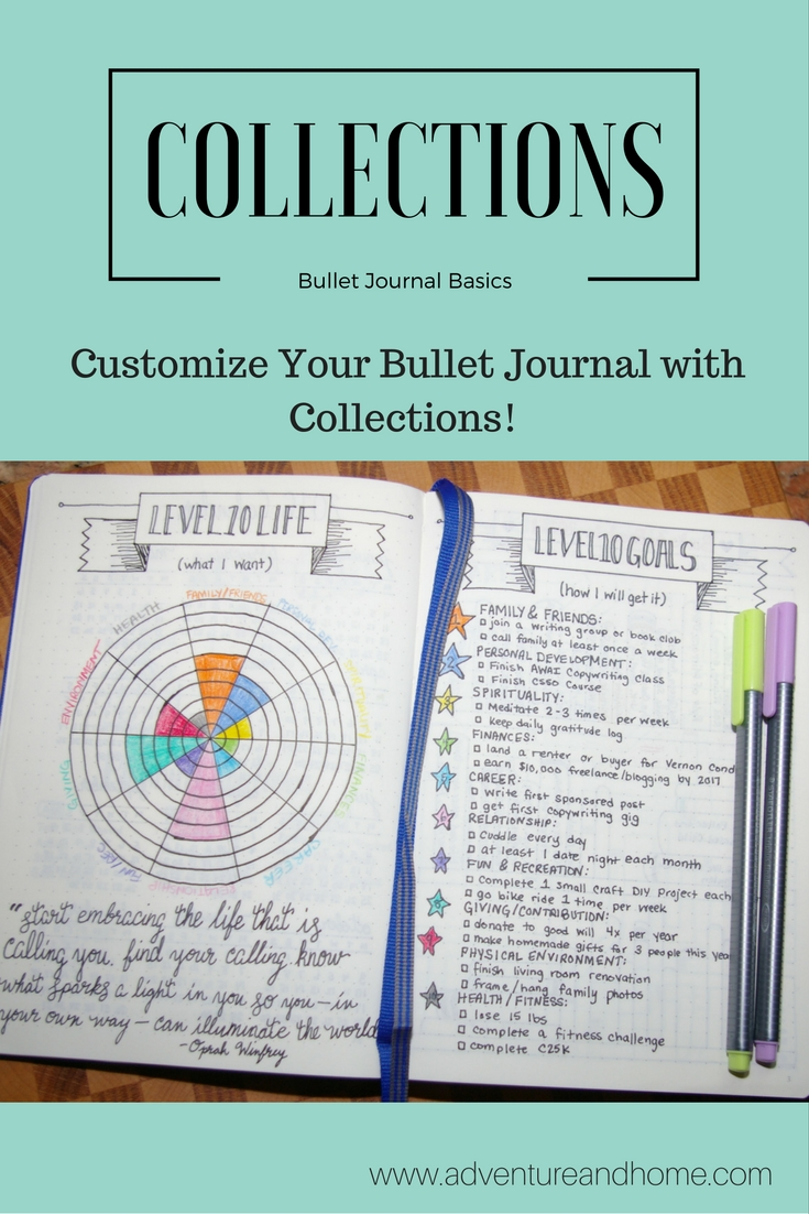 Bullet Journal Collections: The Basics
