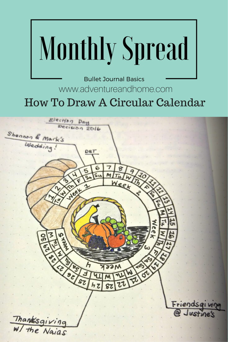 Circular Calendar — Easy Tutorial [Plus Free Printable!]