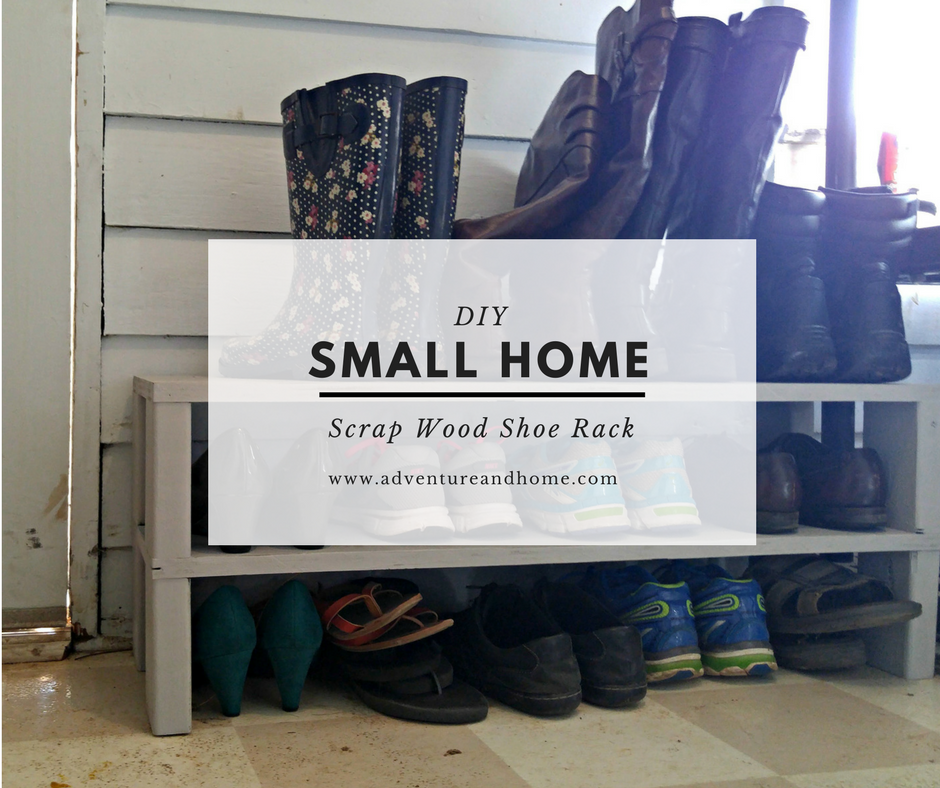 Small Home DIY: Scrap Wood Shoe Rack