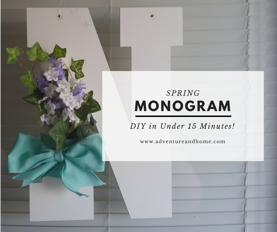 Beautiful & Easy Spring Monogram in Under 15 Minutes