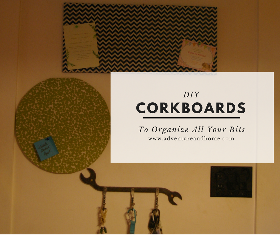 How to Organize the Nudgy Little Bits with an Easy DIY Corkboard