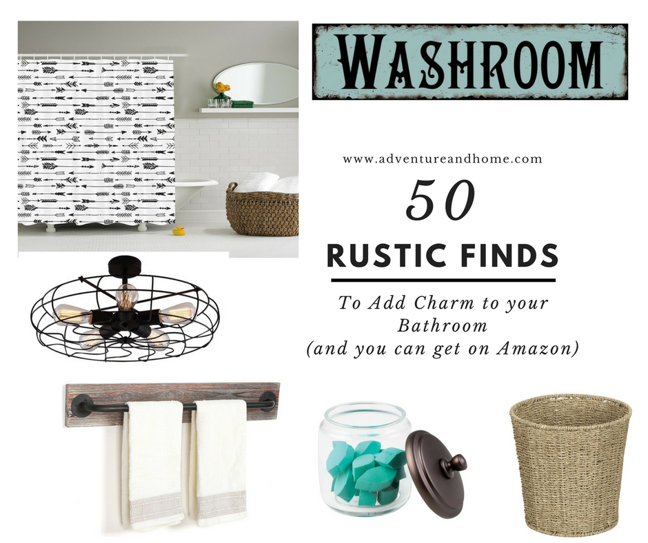 50 Amazing Rustic Finds to Add Charm to Your Bathroom